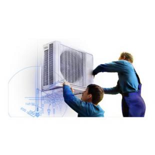 Монтаж настенной сплит-системы для моделей мощностью до 7 КВт (рассчитаны на 70 кв.м)